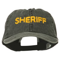 Embroidered Cap - Black Sheriff Letter Embroidered Cap