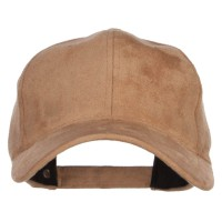 Ball Cap - Khaki Structured Faux Suede Cap