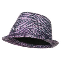 Fedora - Purple Sequin Zebra Fedora