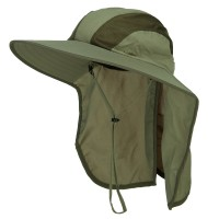 Outdoor - Olive Talson UV Large Bill Flap Hat