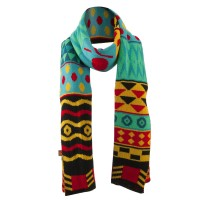 Scarf, Shawl - Turquoise Women's Tribal Print Scarf