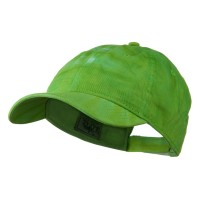 Ball Cap - Lime Green 6 Panel Tie Dye Cap