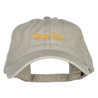 Embroidered Cap - Team Dad Embroidered Washed Cap | Free Shipping | e4Hats.com