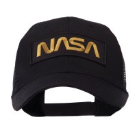 Embroidered Cap - NASA Text Law Forces Patched Mesh Cap