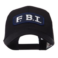 Embroidered Cap - FBI Text Law Forces Patched Mesh Cap