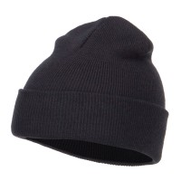 Beanie - Black Youth Cuff Long Beanie