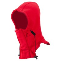 Face Mask - Red Technical Hood