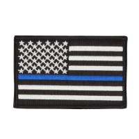 Patch - Thin Line American Flag Embroidered Patch