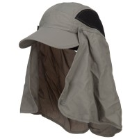 Outdoor - Gull Taslon UV Cap with Removable Flap
