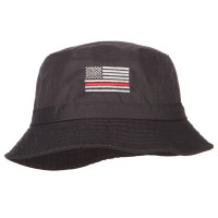 Bucket - Thin Red Line USA Flag Bucket Hat
