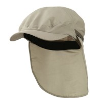Flap Cap - Khaki UV 50+ Talson Zippered Flap Ivy Cap