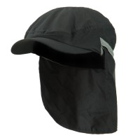Flap Cap - Charcoal UV 50+ Talson Zippered Flap Ivy Cap