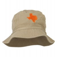 Bucket - Texas Map Embroidered Bucket Hat | Free Shipping | e4Hats.com