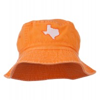 Bucket - Orange Texas Map Embroidered Bucket Hat