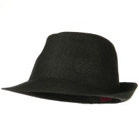 Fedora - Black Twisted Toyo Straw Fedora Hat