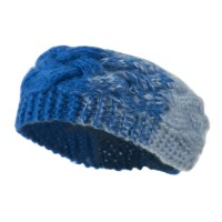 Band - Blue Sky Two Tone Acrylic Knit Head Band