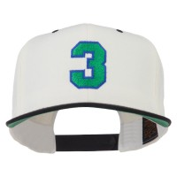 Embroidered Cap - Athletic Number 3 Two Tone Cap   Free Shipping   e4Hats.com