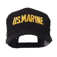 Embroidered Cap - Military Text Patch Mesh Cap | Free Shipping | e4Hats.com