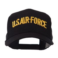Embroidered Cap - Air Force Military Text Patch Mesh Cap | Coupon Free | e4Hats.com
