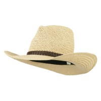 Western - Beige Women's Straw Braid Cowboy Hat