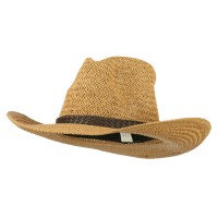 Western - Brown Women's Straw Braid Cowboy Hat