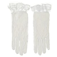 Glove - White Full Lace 2BL Glove