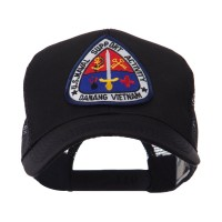 Embroidered Cap - Vietnam US Navy Patched Mesh Cap