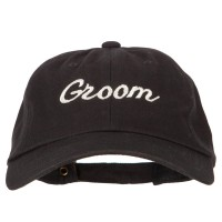 Embroidered Cap - Glitter Groom Embroidery Cap