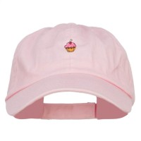 Embroidered Cap - Pink Mini Cupcake Embroidered Cap