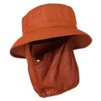 Flap Cap - Rust UPF 50+ Sun Block Bucket Flap Hat