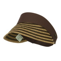 Visor - Brown UPF 50+ Toyo Paper Braid Visor