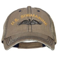 Embroidered Cap - Submarine Embroidery Mesh Cap