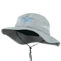 Bucket - Grey Big Size Taslon UV Bucket Hat