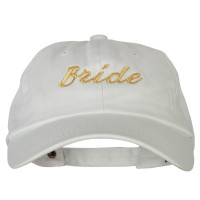 Embroidered Cap - Glitter Bride Embroidery Cotton Cap