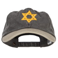 Embroidered Cap - Jewish Star of David Two Tone Cap | Free Shipping | e4Hats.com