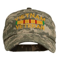 Embroidered Cap - Digital Camo Viet Veteran Embroidery Enzyme Cap