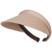 Visor - Khaki Cotton Clip On 4 Inch Bill Visor