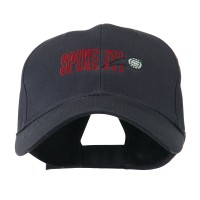 Embroidered Cap - Navy Spike It Volleyball Embroidered Cap | Coupon Free | e4Hats.com