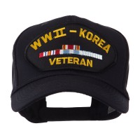 Embroidered Cap - WW2 Korea Veteran Military Large Patch Cap
