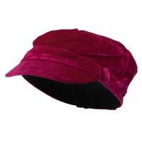 Cadet - Fuchsia Velvet Military Hats For Kids
