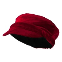 Cadet - Red Velvet Military Hats For Kids