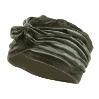 Wrap - Silver Women's Velvet Turban Hat