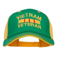 Embroidered Cap - Kelly Gold Vietnam Veteran Embroidered Big Cap