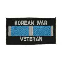 Patch - Korean Veteran Rectangle Embroidered Patch