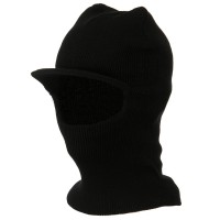 Face Mask - Black One Hole Ski Mask with visor