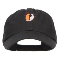 Embroidered Cap - Love Cats Heart Embroidered Cap