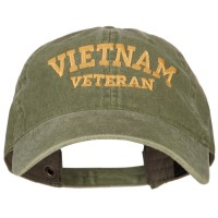 Embroidered Cap - Olive Vietnam Veteran Embroidered Cap   Coupon Free   e4Hats.com