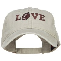 Embroidered Cap - Football Love Embroidered Cap