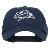 Embroidered Cap - Let it Snow Embroidered Cap | Free Shipping | e4Hats.com