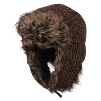 Trooper - Brown Women's Crocheted Trooper Hat